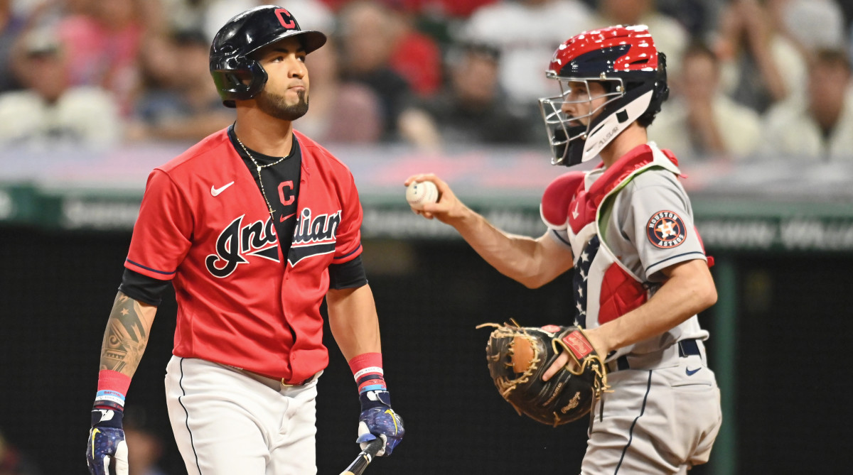 Eddie Rosario was having his worst season at the plate in Cleveland before an abdominal strain sidelined him earlier this week.