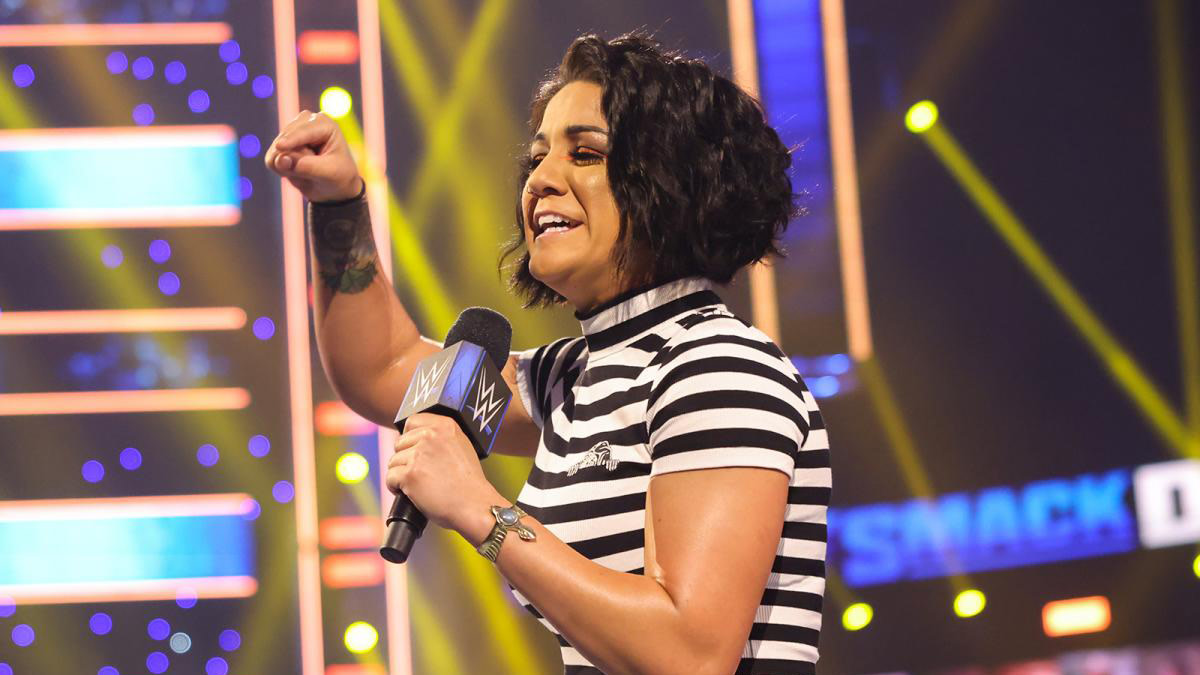 Bayley cuts a promo on SmackDown