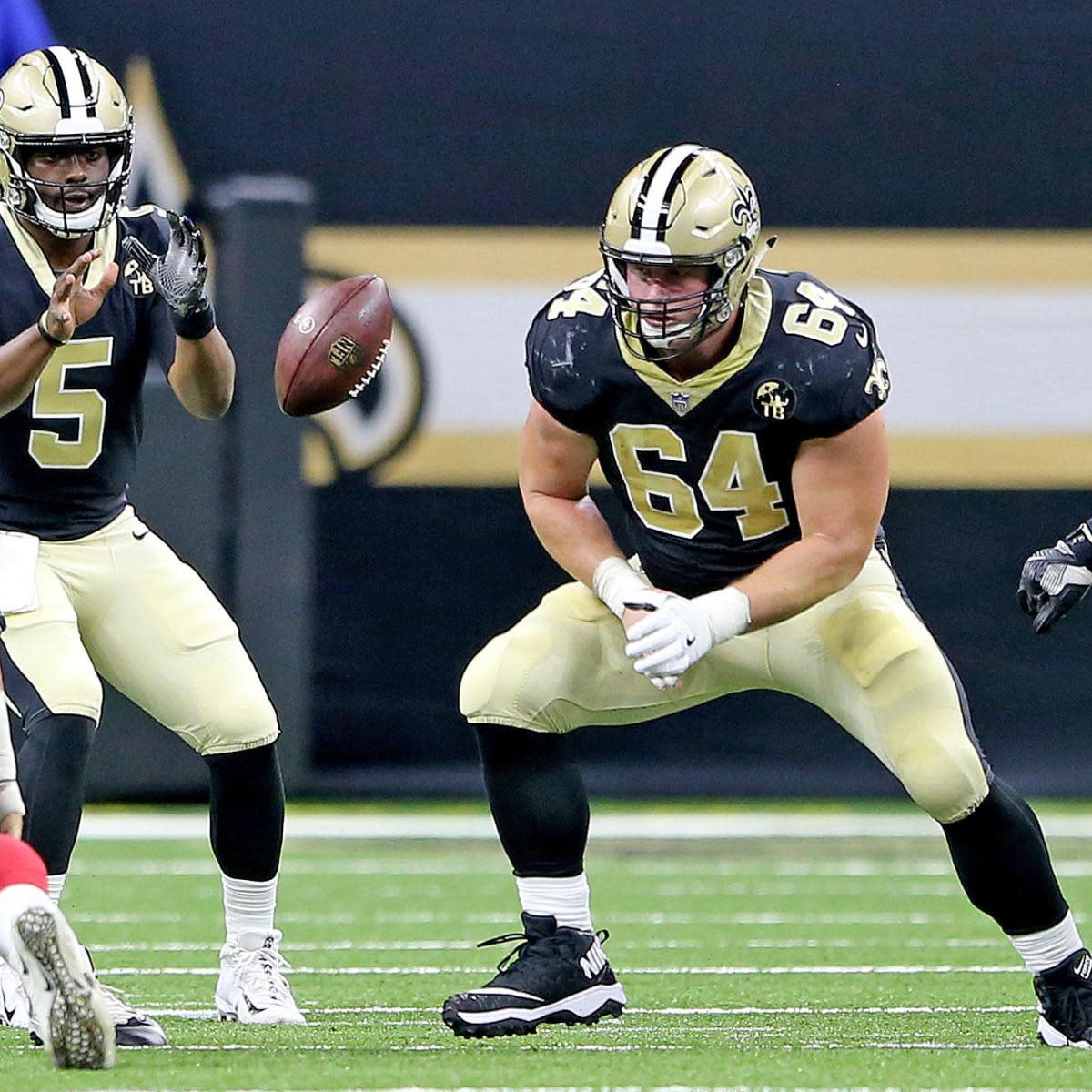 New Orleans Saints offensive lineman Will Clapp (64). Credit: Nola.com