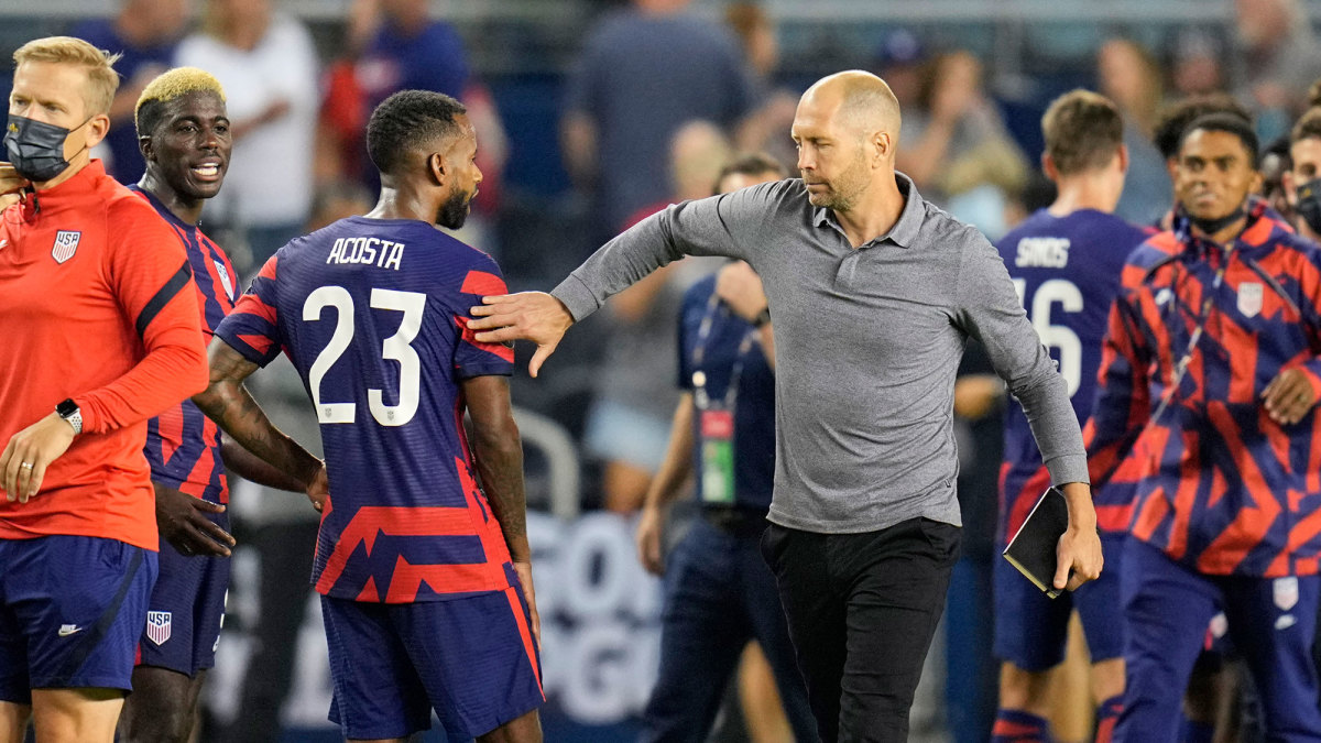 USMNT coach Gregg Berhalter after a Gold Cup win over Haiti