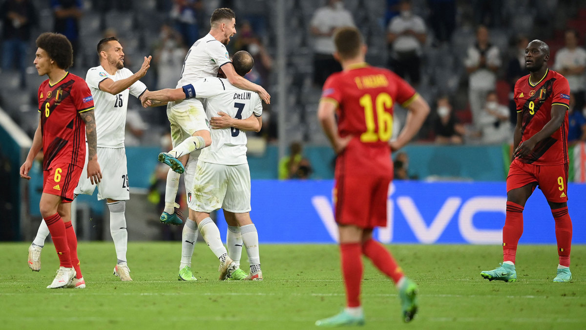 Belgium lost to Italy at Euro 2020