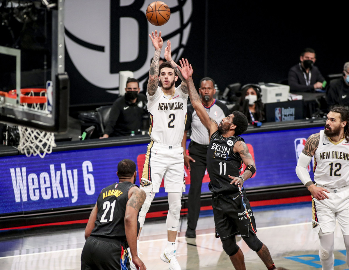 Ball's effective field goal percentage on catch-and-shoot jumpers on the road shot up 9 percentage points this season from 2019–20. It'll be up to teams to decide whether the restricted free agent's shooting has improved or if he benefited from playing in empty arenas.