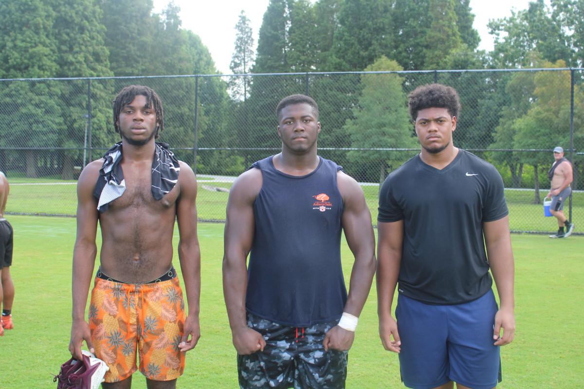 Lavaughn Brown, Gabe Dindy, and Keahnist Thompson - Defensive Line - Lakeland (Fla.) High School