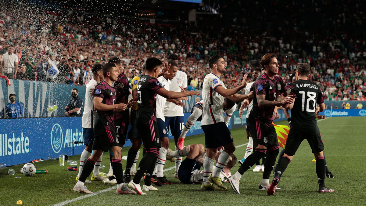 The USA and Mexico in the Concacaf Nations League final