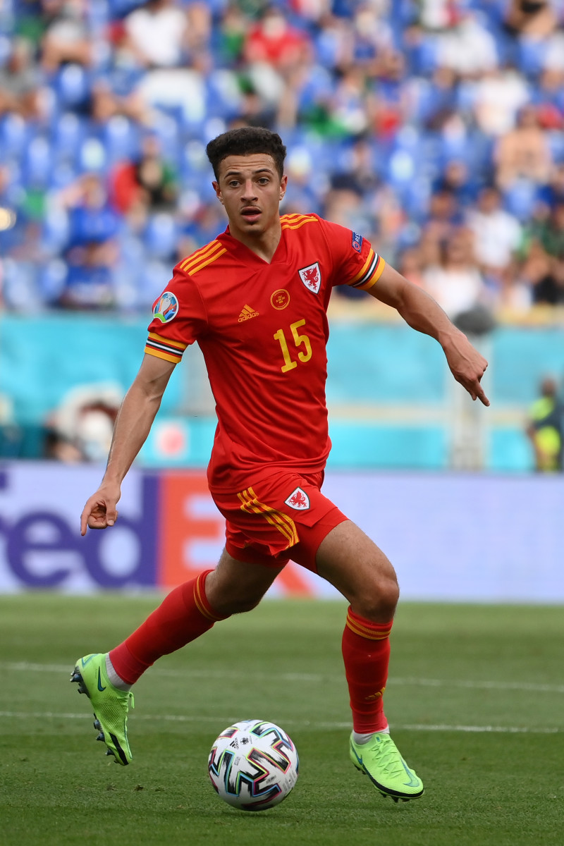 Ampadu in action for Wales at Euro 2020