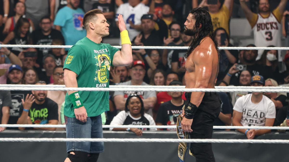 John Cena taunts Roman Reigns at Money in the Bank