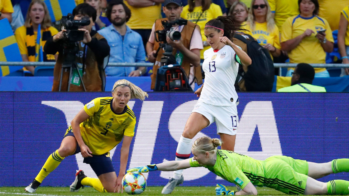 Alex Morgan and the USWNT face Sweden in the Olympics