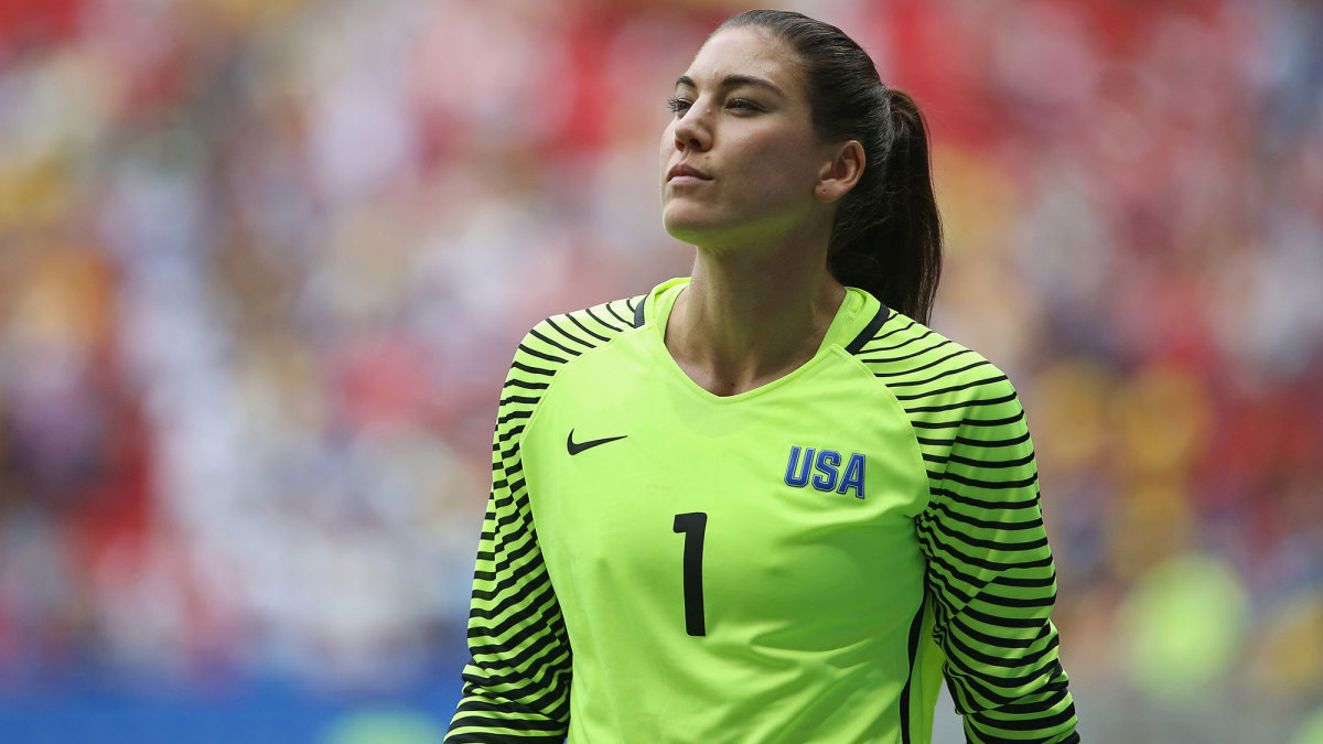 Hope Solo at the 2016 Olympics for the USWNT
