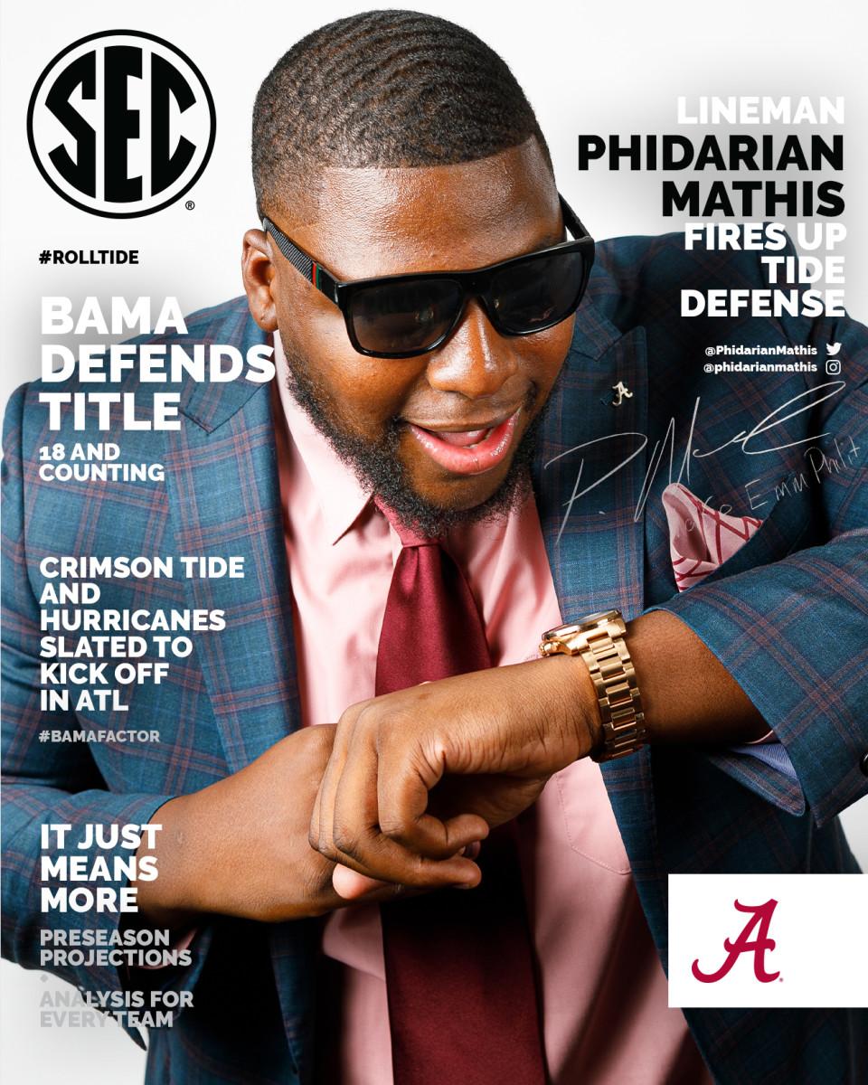 Phidarian Mathis sign SEC media days