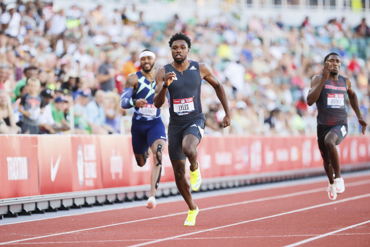 Though he had just the fourth-fastest time of his competitors at the trials heading into the final, Lyles blew past the field to win.
