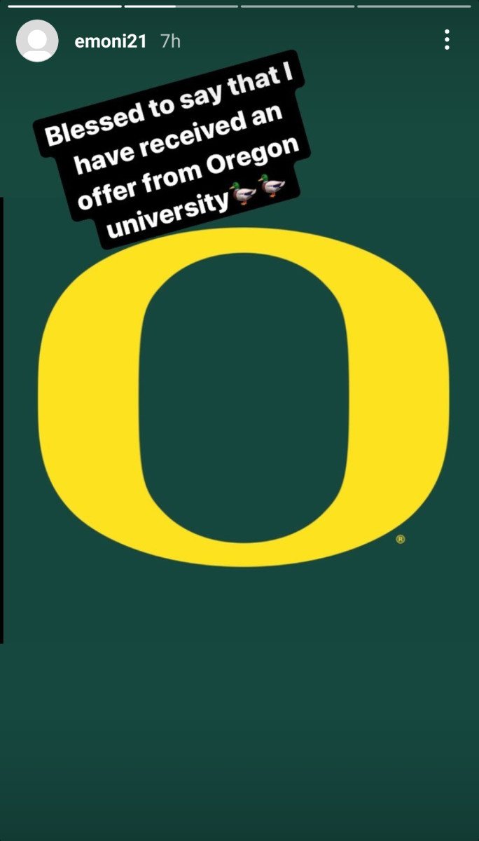 Bates announced an offer from the Ducks hours before placing them in his final 8.
