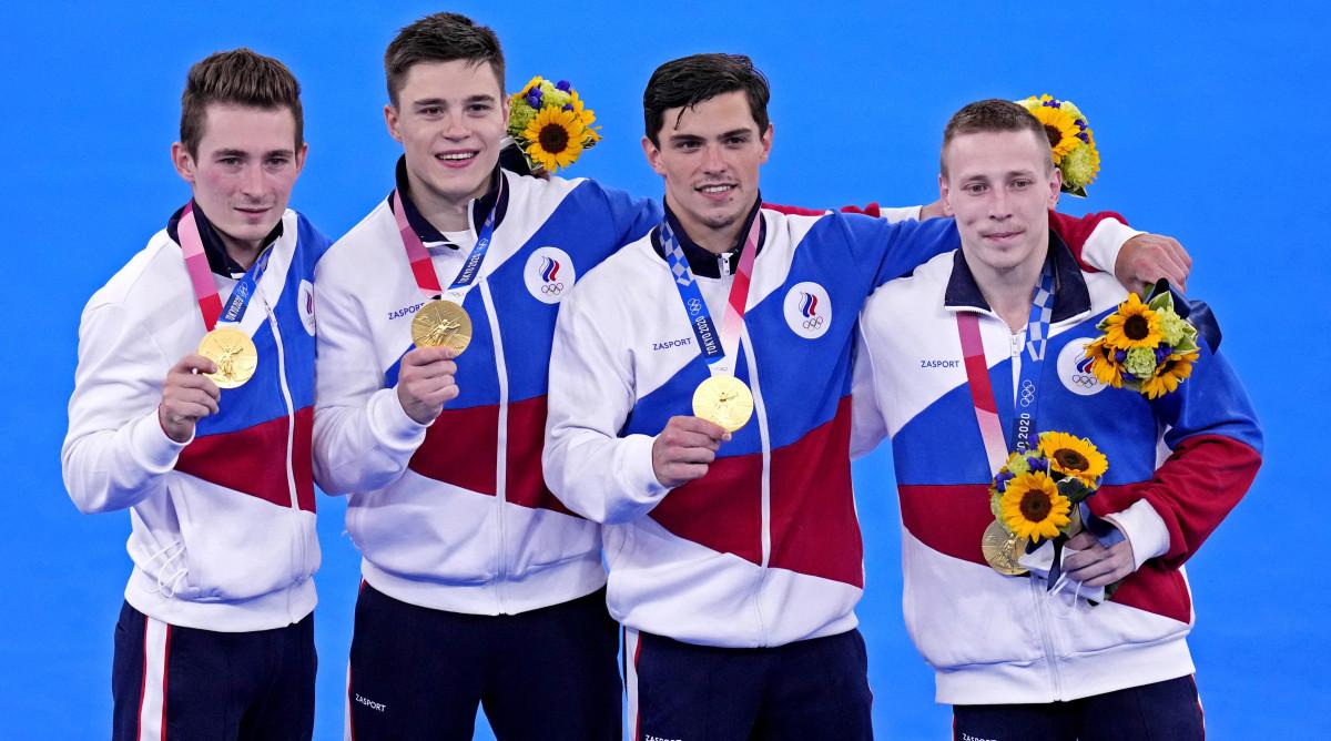 Russian athletes win men's gymnastics gold medal at Tokyo Olympics