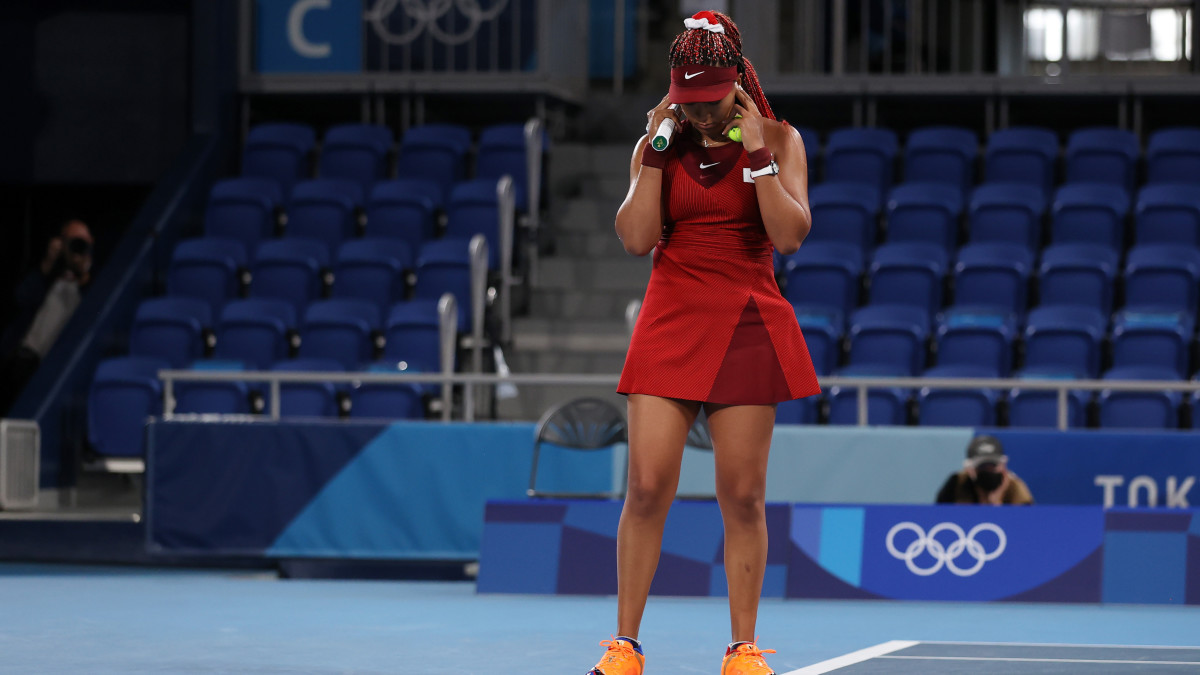 Naomi Osaka's Olympic run has come to an end after a third-round loss to Marketa Vondrousova of the Czech Republic.