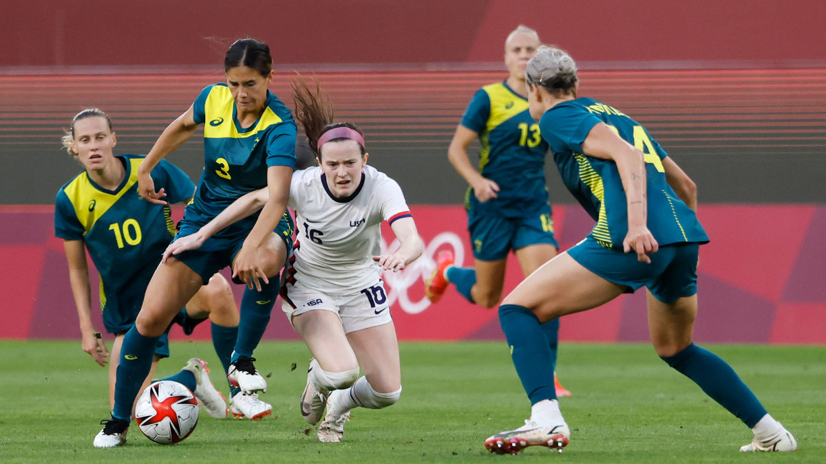 USWNT and Australia played to a 0-0 draw at the Olympics