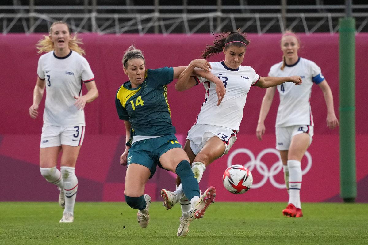 The USWNT draws Australia at the Olympics