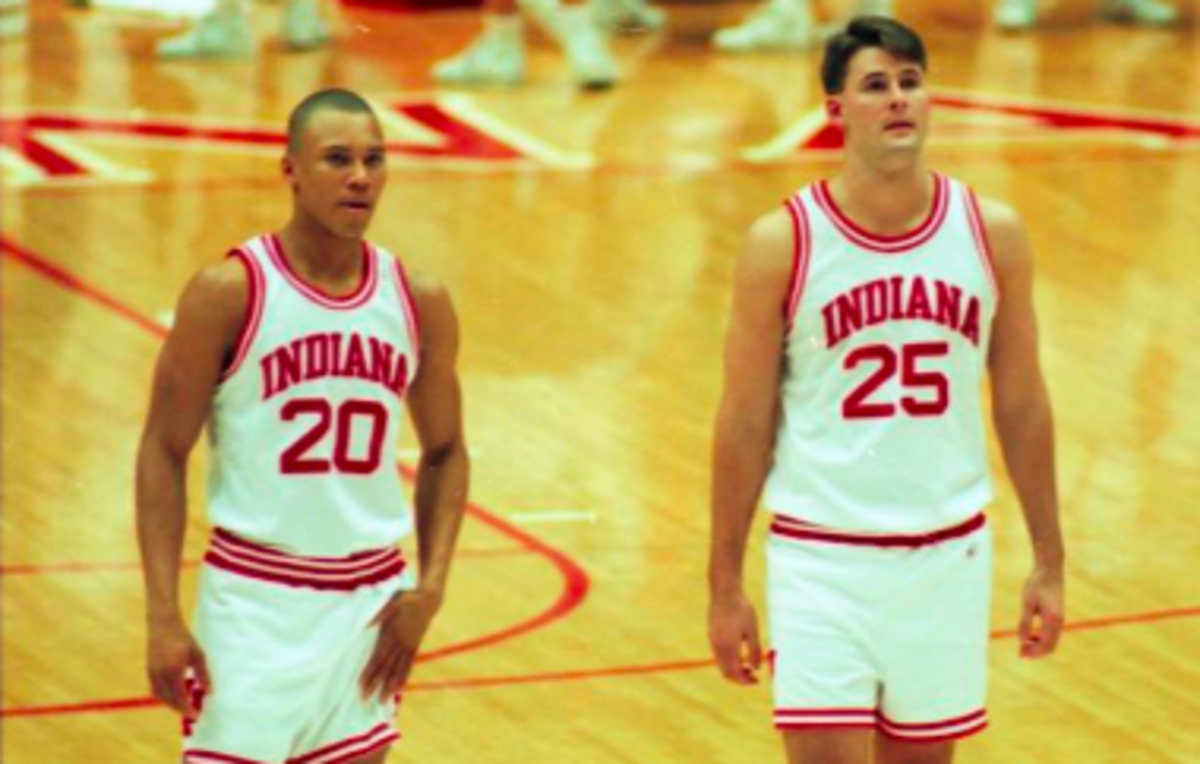 Sherron Wilkerson (20) and Pat Knight were teammates at Indiana in the 1990s. (USA TODAY Sports)