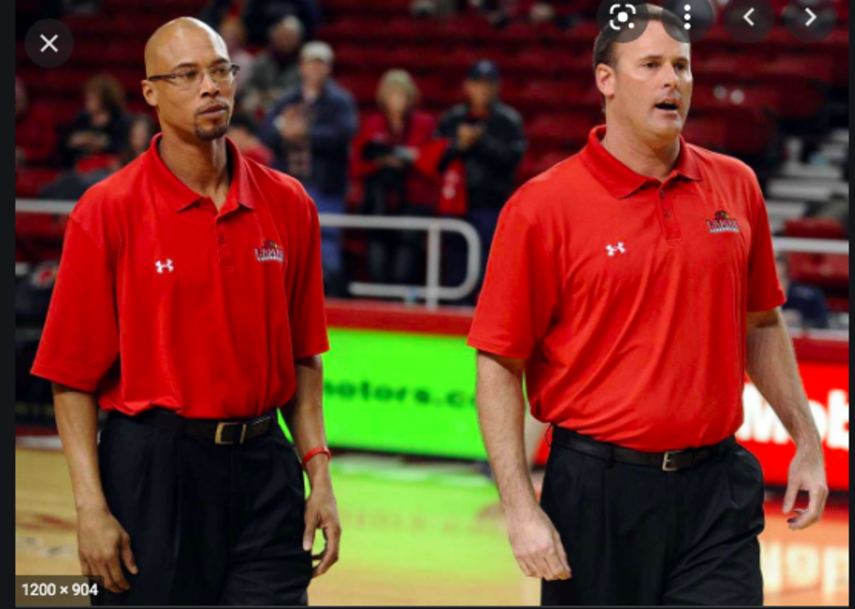 Sherron Wilkerson (left) was an assistant coach at Lamar University when Pat Knight (right) was the head caoch. (USA Today Sports)
