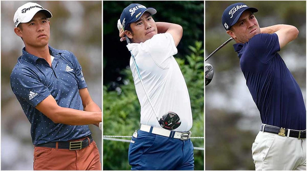 Collin Morikawa, Hideki Matsuyama and Justin Thomas