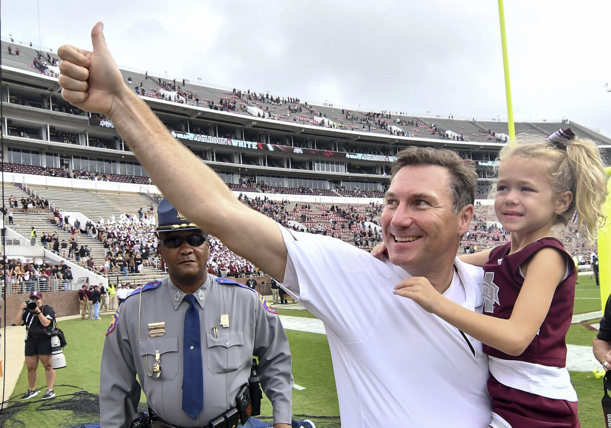 Dan Mullen while the Head Coach for Mississippi State University