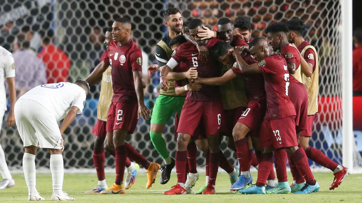 Qatar scores vs. Honduras at the Concacaf Gold Cup