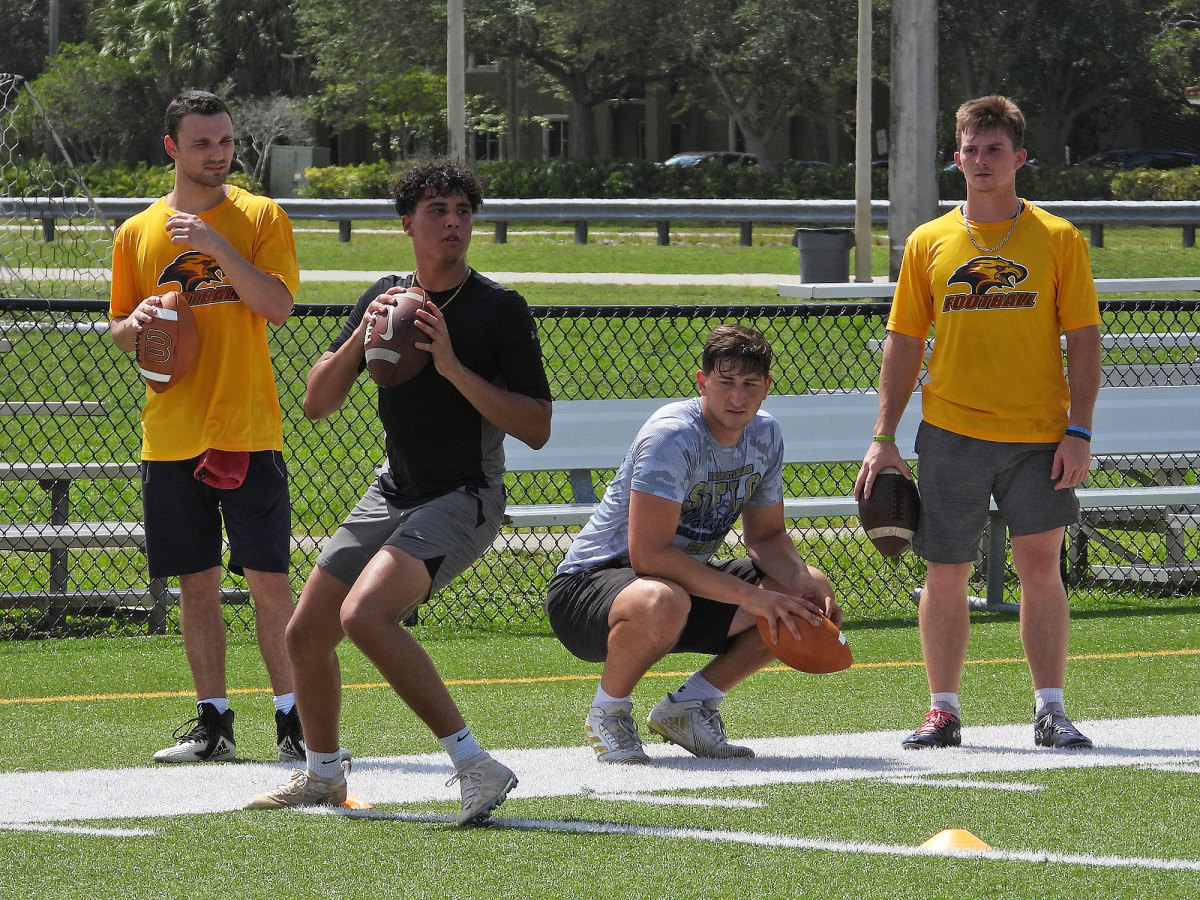 Players work out at Fort Lauderdale