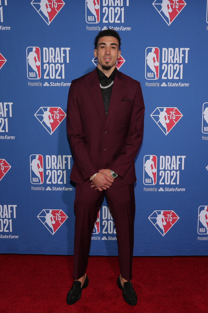 Duarte at the 2021 NBA Draft.
