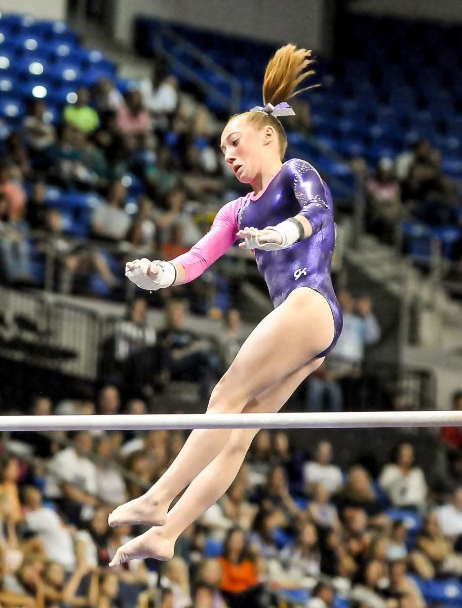 When Beucler competed at the 2012 national championships, it appeared to her mother like her coach was giving her positive encouragement. But Beucler says things weren't as they seemed.