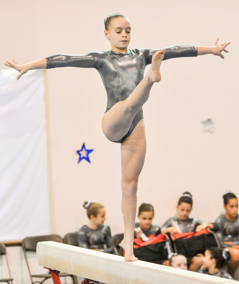 Gallant, 11 years old in this picture, started training at Kurt Thomas Gymnastics in 2005, when she was 7.