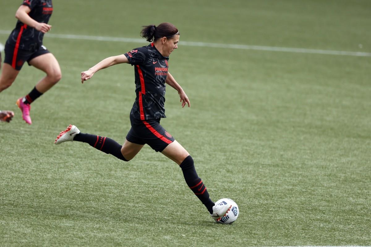 Christine Sinclair. Photo by Soobum Im, USA TODAY Sports