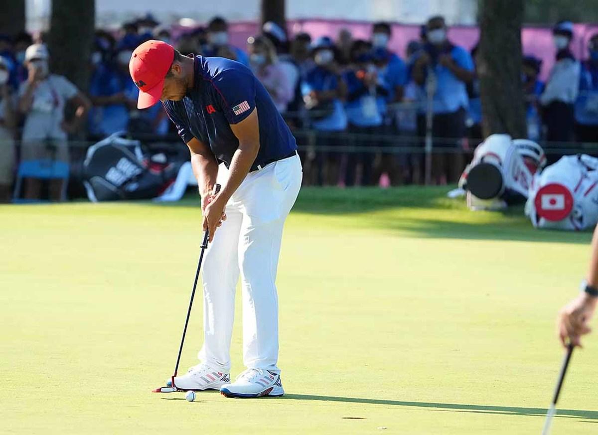 Xander Schauffele, final hole, men's Olympic golf