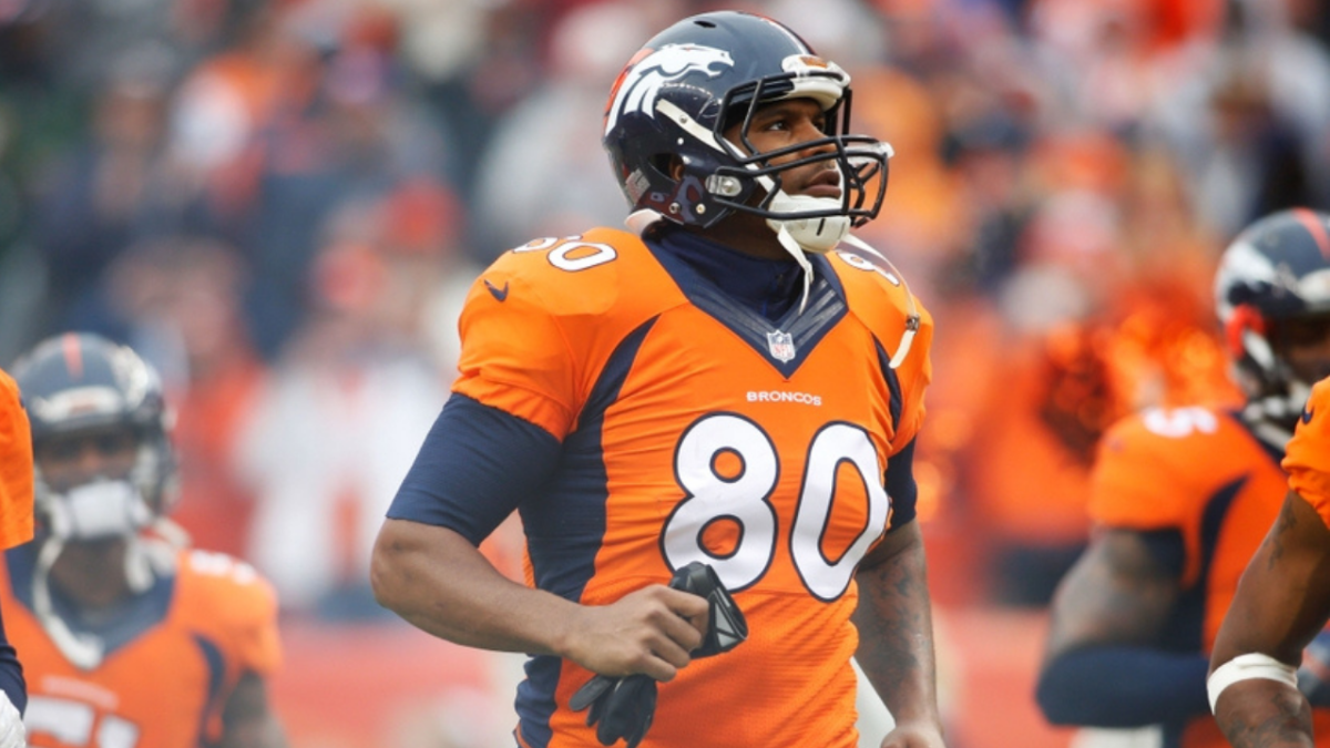 Denver Broncos tight end Julius Thomas (80) in the 2014 AFC Divisional playoff football game against the Indianapolis Colts at Sports Authority Field at Mile High.