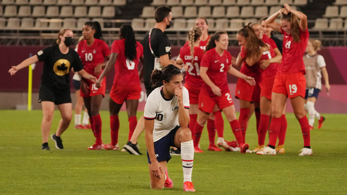 Carli Lloyd and the USWNT fall short of the gold medal game at the Olympics