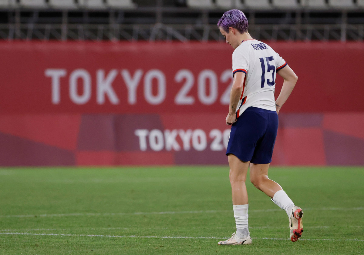 Megan Rapinoe and the USWNT lose in the Olympics