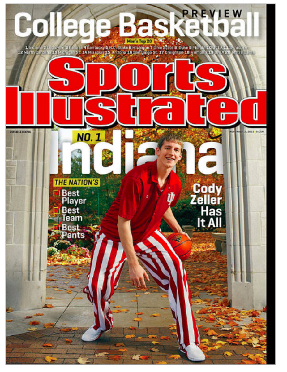 Cody Zeller appeared on the cover of Sports Illustrated in November of 2012 when the magazine named Indiana No. 1 in its preseason poll. (Sports Illustrated)