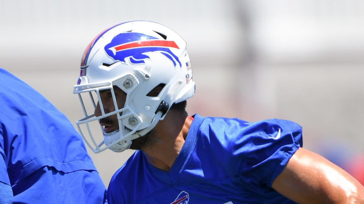 Buffalo Bills defensive end A.J. Epenesa during minicamp at the ADPRO Sports Training Center.