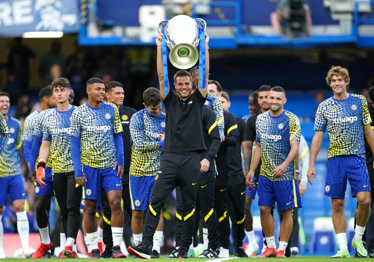 Chelsea paraded their Champions League trophy before the friendly on Wednesday.