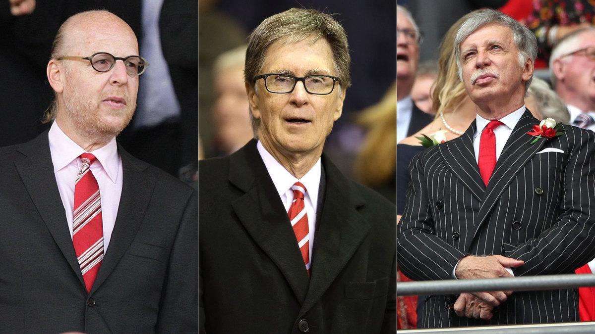 Man United, Liverpool and Arsenal owners Avram Glazer, John Henry and Stan Kroenke