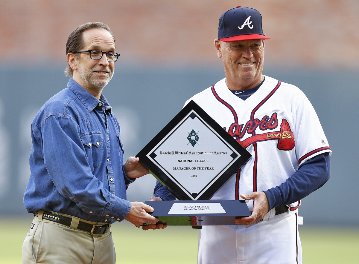 Under Snitker, who won the NL 2018 Manager of the Year award (opposite), the Braves have won three straight division titles.