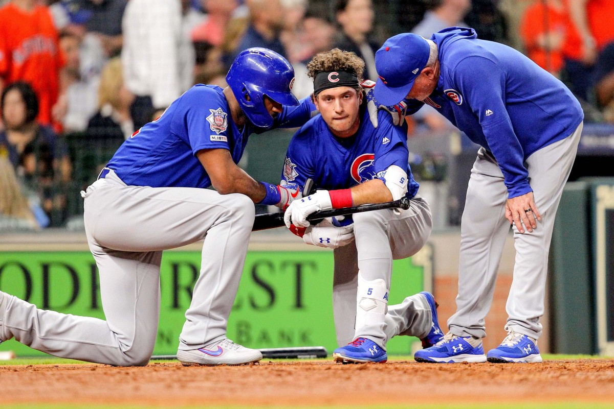 Albert Almora Jr. was visibly shaken after a foul ball off his bat struck a young girl in 2019.