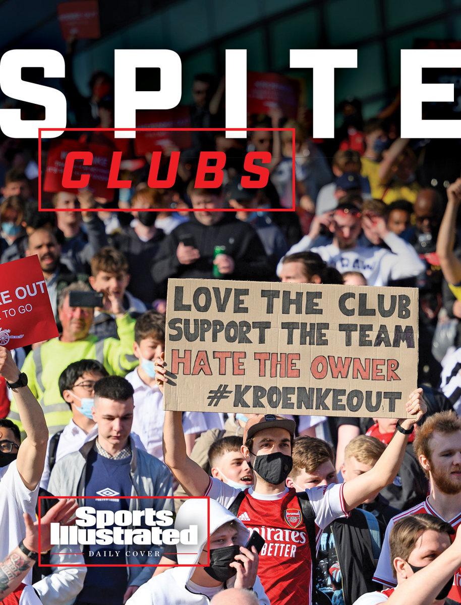 Arsenal fans protest owner Stan Kroenke
