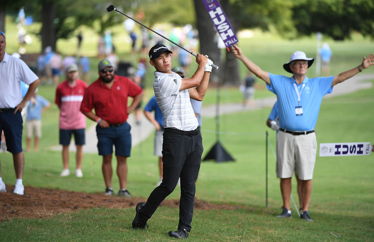 Collin Morikawa leads the Fed Ex Cup points standings.USA Today