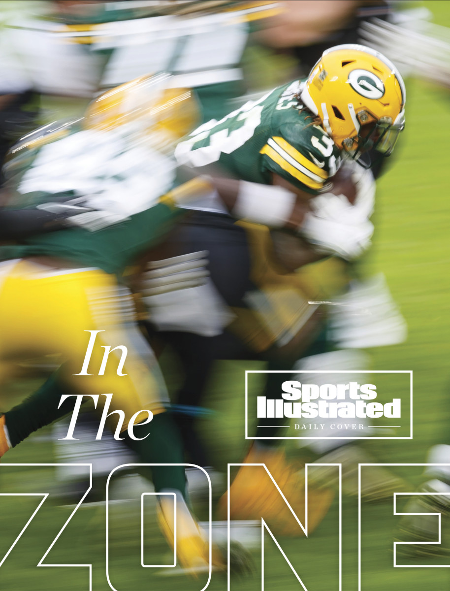 Packers run play on SI Daily Cover about the wide-zone offensive trend