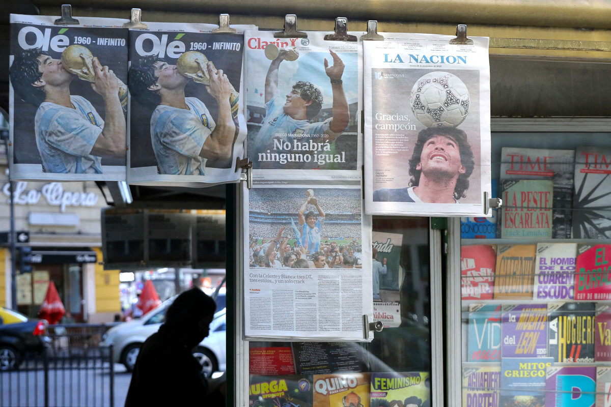 Maradona's death was front-page news on Nov. 26—and has remained so, loosely.