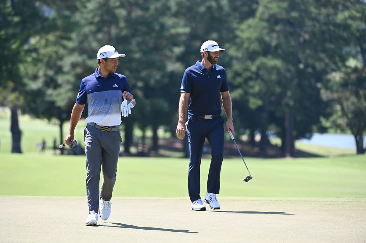 Pop quiz: Which of these two won the FedEx Cup Playoffs last season? It was Dustin Johnson (right), not Xander Schauffele.Schauffeleposted the best 72-hole score.USA Today