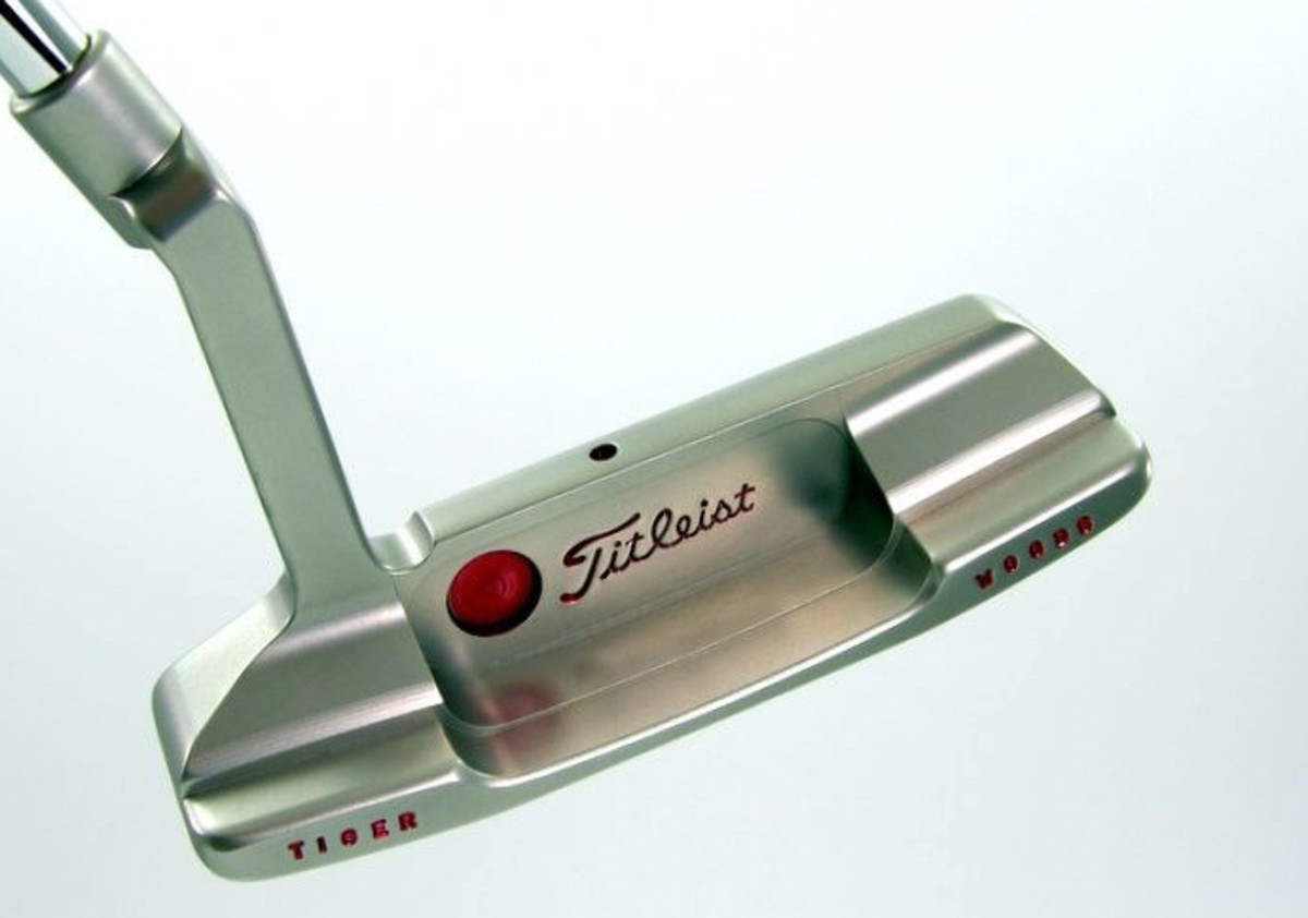 This Tiger Woods backup putter is up for auction this month at Golden Age Golf Auctions.