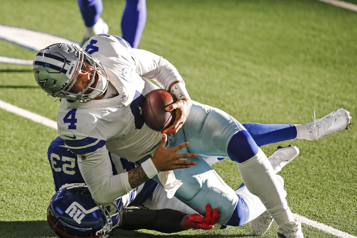 Dak Prescott breaks his ankle when tackles by Logan Ryan during a 2020 game