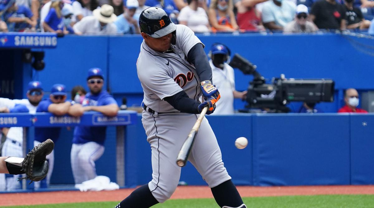 Miguel Cabrera hitting his 500th home run