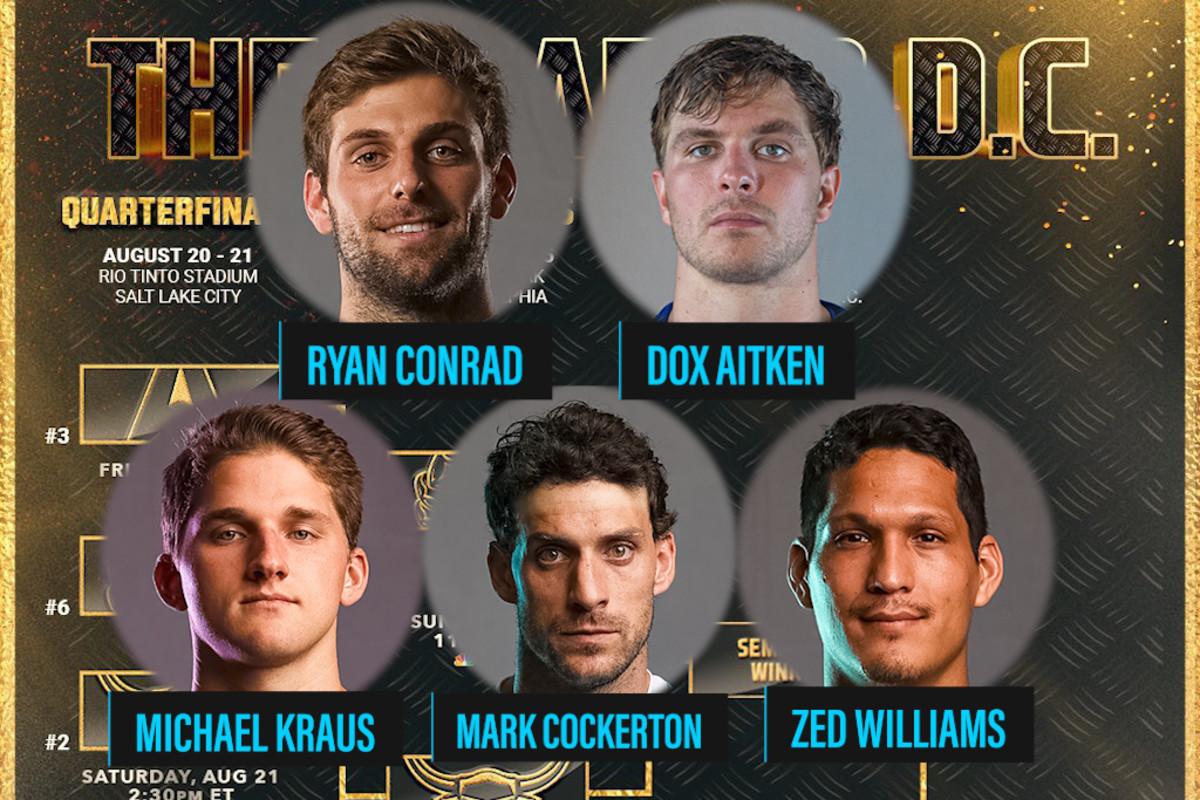 Ryan Conrad, Dox Aitken, Michael Kraus, Mark Cockerton, and Zed Williams represent UVA in the PLL Semifinals
