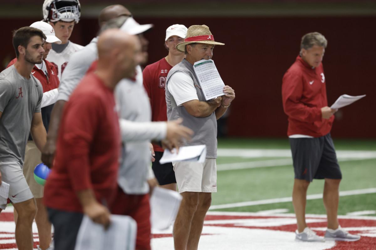 Photos: Alabama Football in Monday's Practice of Fall Camp - Bama Maven