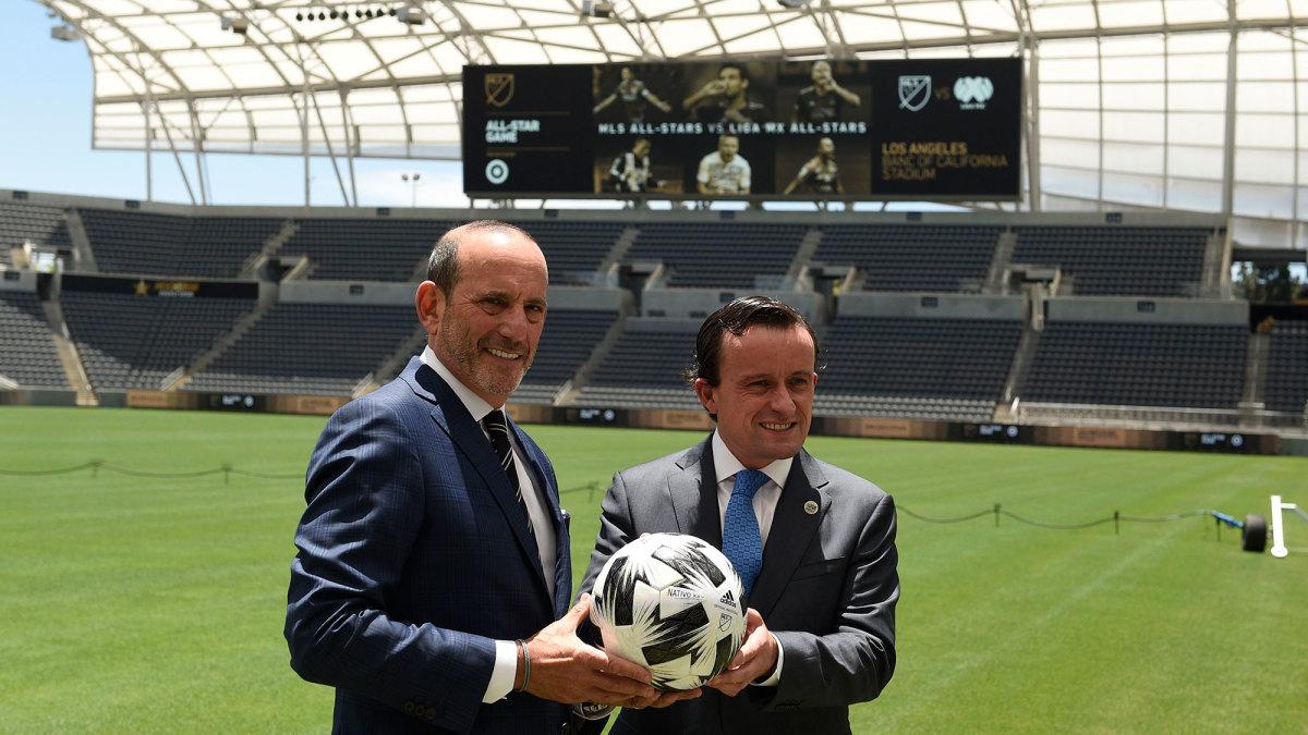 MLS commissioner Don Garber and Liga MX president Mikel Arriola